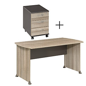 Ensemble Table de Bureau 140 cm + caisso