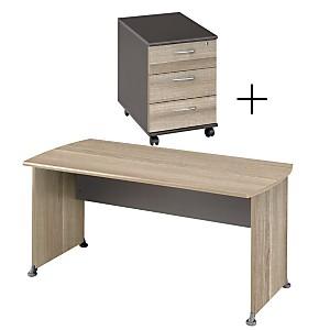 Ensemble Table de Bureau 160 cm + caisso