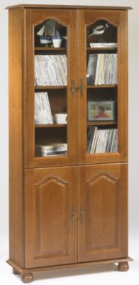 Bibliothèque Cluzel 4 portes, chêne.