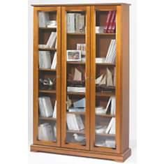 Bibliothèque Florac 3 portes, merisier