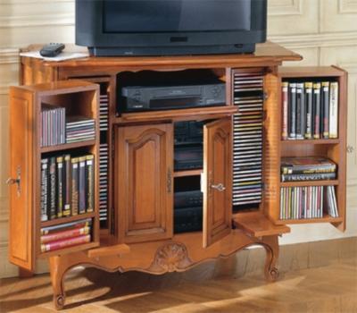 Meuble TV à caissons Savignac, chêne