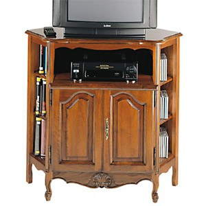 Meuble TV d'angle Savignac, merisier
