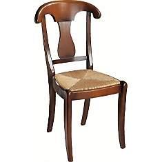 Lot 2 chaises paille Guérande merisier, ...