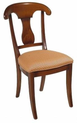 Le lot de 2 chaises dos palmette Guérande assise tissu, merisier