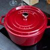Cocotte ronde STAUB 24 cm Bordeaux