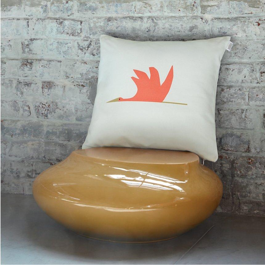 Coussin Cigogne SCION LIVING, Orange