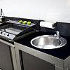 Module évier en acier galvanisé pour  cuisine d'extérieur ENO