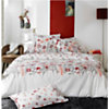 Taie d'oreiller percale Petite Folie rouge TRADILINGE