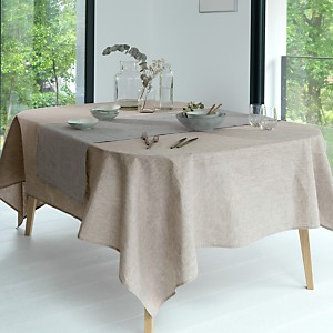 Nappe Chambray Lin Catherine et Francine  CAMIF EDITION, beige