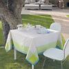 Lot de 4 serviettes de table Géométry  GARNIER THEIEBAUT, Lime