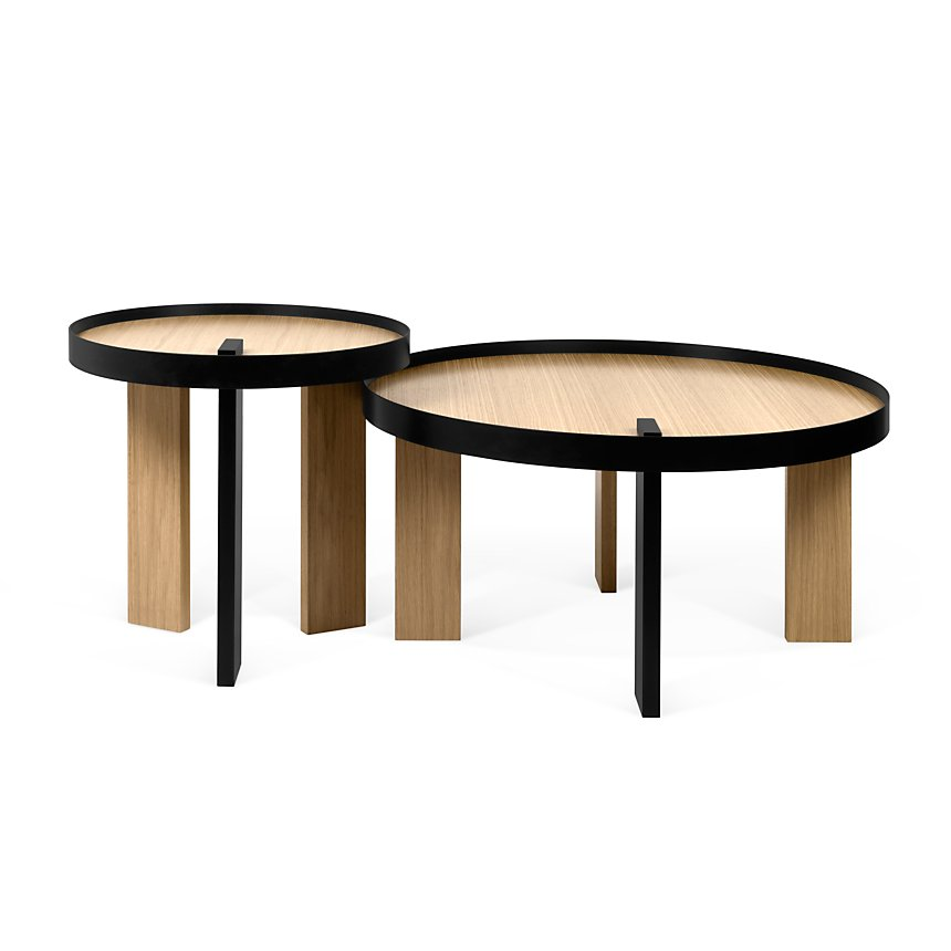 Ensemble Table basse + Bout de canapé Bruno TEMA HOME