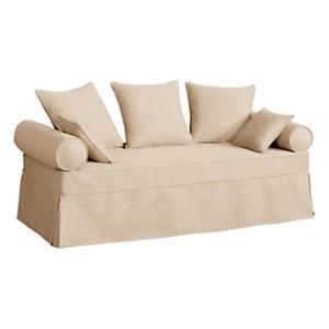Canapé-lit gigogne tissu coton déhoussable Hermitage
