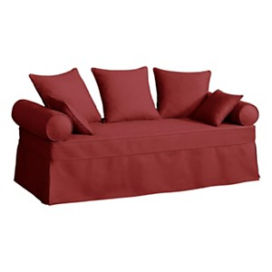 Canapé-lit gigogne tissu coton déhoussab le Hermitage