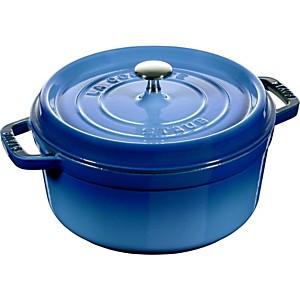 Cocotte fonte ronde STAUB 26 cm Bleu