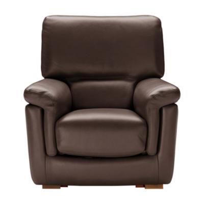 Petit fauteuil cuir pleine fleur Mykonos