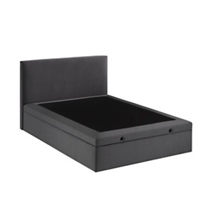 Lit coffre anthracite DUNLOPILLO