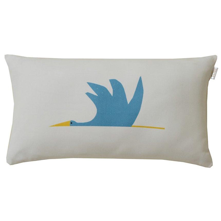 Coussin Cigogne SCION LIVING, Bleu  Canard