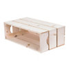 Table de chevet bois naturel avec 3 niches