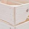 Lot de 4 caisses en bois Grand format L54xH30xP36cm