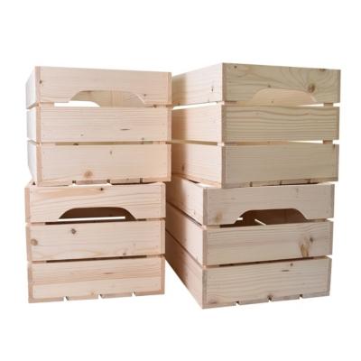 Lot de 4 caisses en bois Grand format L5