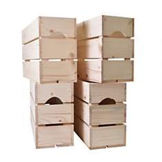 Lot de 4 caisses en bois Demi HAUT L54xH
