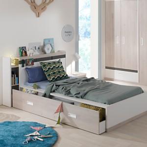Lit + tiroir + environnement Gabin