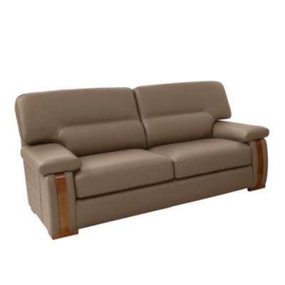 Canapé cuir avec boiserie Edenia