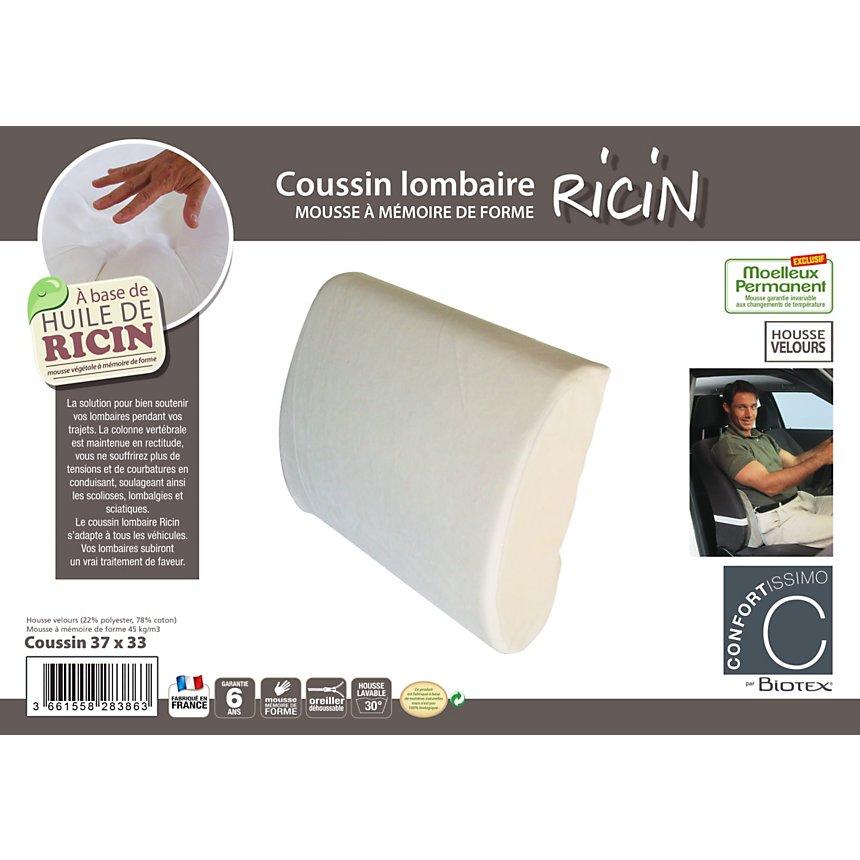 Coussin lombaire Ricin CONFORTISSIMO par BIOTEX