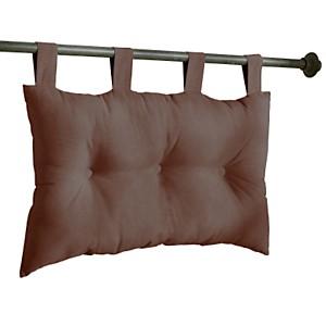 Tête de lit capitonnée chocolat 75x45