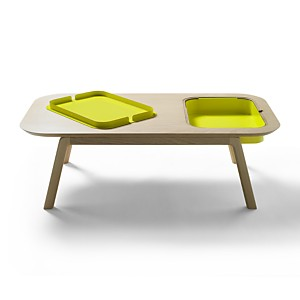 Table basse Thomas & Florian avec casier , CAMIF EDITION