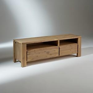 Meuble TV, bois, 2 tiroirs, ENZO