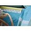 Parure de lit percale Arc en ciel BLANC DES VOSGES, Céladon