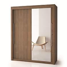 Armoire porte bois + porte miroir  H200
