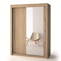 Armoire porte bois + porte miroir  H220
