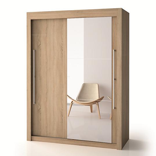 Armoire porte bois porte miroir h220 cm deborah - Armoire de toilette 1 porte avec miroir ...