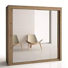 Armoire 2 portes miroir H220 cm Deborah