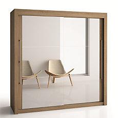Armoire 2 portes miroir H220 cm ...