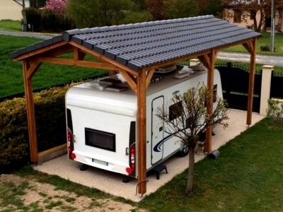 Abri de camping car BOURGOGNE en  bois Douglas CPBF