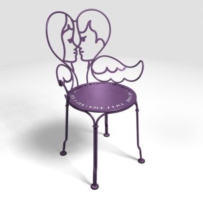 Chaise ANGE,  coloris au choix