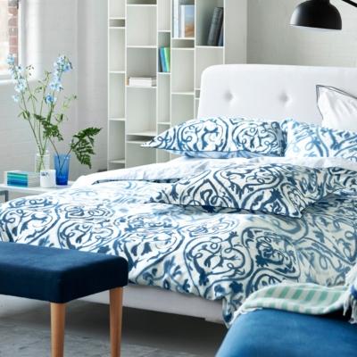 housse de couette satin arabesque designers guild. Black Bedroom Furniture Sets. Home Design Ideas