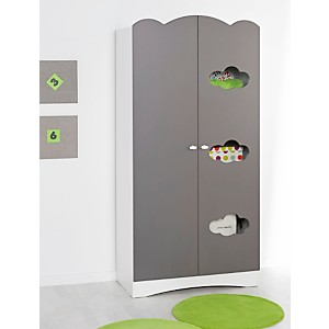 Armoire 2 portes Sybelle, taupe