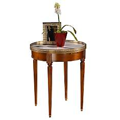 Table Bouillotte marbre ht. 72 cm,   mer