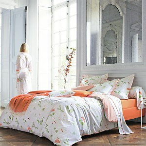 Taie percale Bucolique Orange  BLANC DES