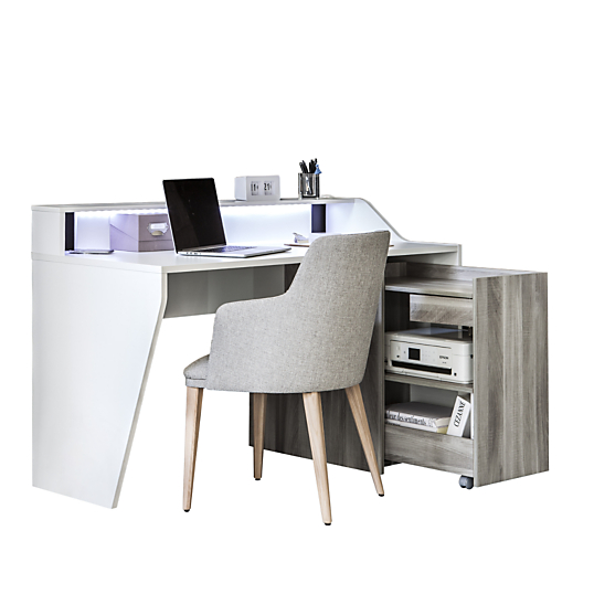 Bureau connect cinlou avec option son for Bureau meuble camif