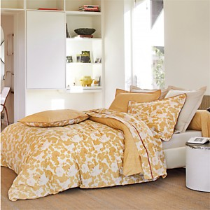Parure de lit percale Camouflage BLANC DES VOSGES, Ocre