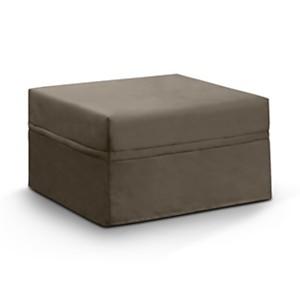 Pouf convertible tissu coton lin