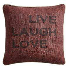 Coussin Live Laugh Love LOUNGE FABRICS