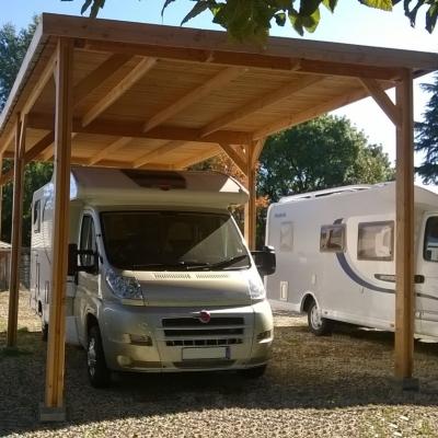 abri pour camping car toit plat aquitaine en bois douglas cpbf. Black Bedroom Furniture Sets. Home Design Ideas