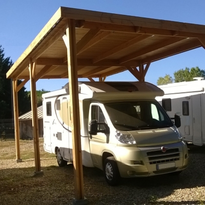 abri pour camping car toit plat aquitaine en bois douglas cpbf. Black Bedroom Furniture Sets. Home Design Ideas