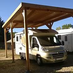 Abri pour camping car à toit plat  Aquit...